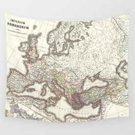Vintage Map of The Roman Empire (1865) Wall Tapestry