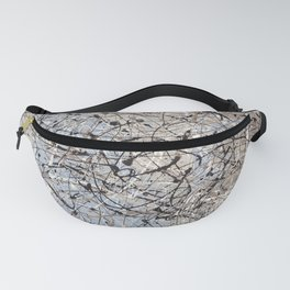 High Again - Jackson Pollock style abstract drip painting by Rasko Fanny Pack