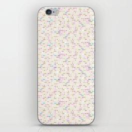 Sketchy Line Dot Marks iPhone Skin
