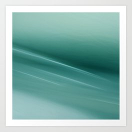 Fantasy Space Lines 1 Turquoise Art Print