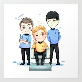 TOS Friendship Art Print