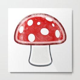Fly Agaric - Amanita Muscaria Mushroom Metal Print