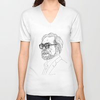 hayao miyazaki V-neck T-shirts featuring Hayao Miyazaki by Andy Christofi