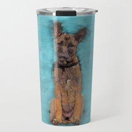 Belgian Malinois Puppy Sketch - Mechelaar Travel Mug