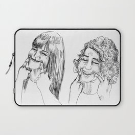 I'll smile when you leave Laptop Sleeve