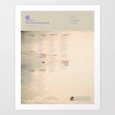 The Visual Mixtape 2010 | Love And Distance | 17 / 25 Art Print