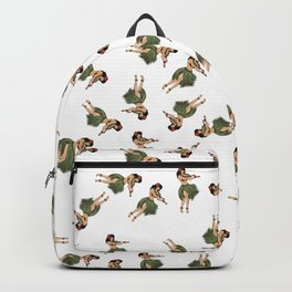 Dancing Hula Girls Pattern Backpack
