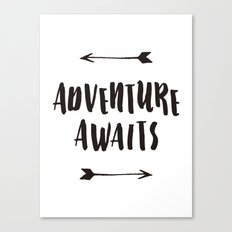 Adventure Awaits Art Print  Canvas Print