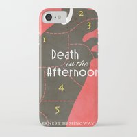 hemingway iPhone & iPod Cases featuring Death in the Afternoon, Erenst Hemingway - Book Cover by Stefanoreves