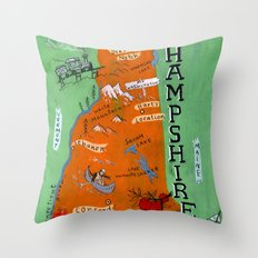 NEW HAMPSHIRE Throw Pillow