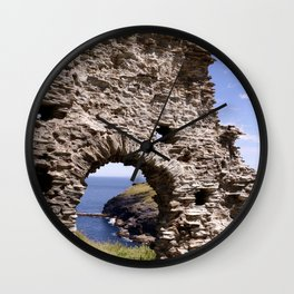 Tintagel Castle Gateway Wall Clock