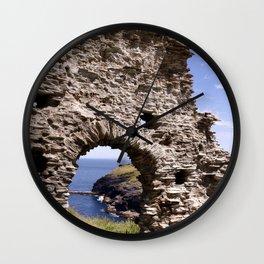 Tintagel Castle Gateway Wall Clock