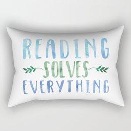 Reading Solves Everything (Green/Blue) Rectangular Pillow