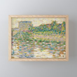 The Seine at Courbevoie, Georges Seurat Framed Mini Art Print