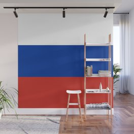 Russian Flag In Red White And Blue Wall Mural