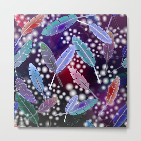 Feathers and Fairy Lights (The Witching Hour) Metal Print