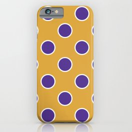 Geometric Orbital Candy Dot Circles - Purple & Golden Yellow iPhone Case