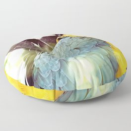Magical Parrot - Guacamaya Variopinta - Magical Realism Floor Pillow