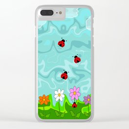 A Cloudy Summer Day Clear iPhone Case