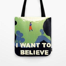 Believe in Goku Tote Bag