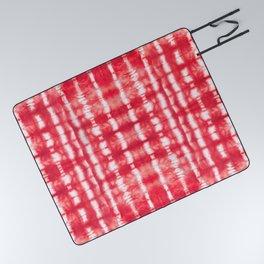 Shibori Itajime Reds Picnic Blanket