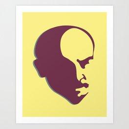 Vladimir Ilich Lenin stencil silhuette portrait Art Print