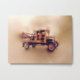 Vintage Model T Wrecker Metal Print