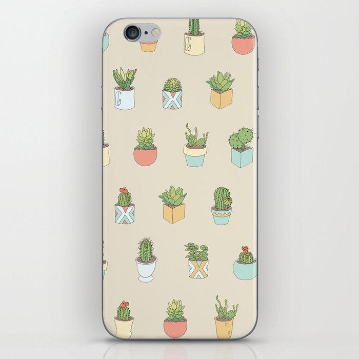 Cute Succulents iPhone Skin