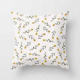 Yellow Knobs Throw Pillow