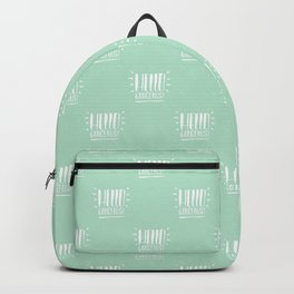 Hello Gorgeous Hand lettering style White version Backpack