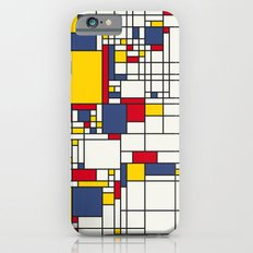 World Map Abstract Mondrian Style iPhone 6s Slim Case
