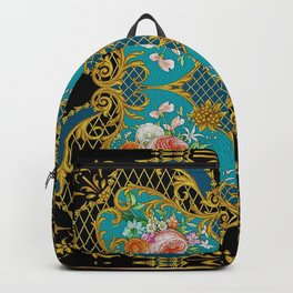 Baroque Inspired Luxury Floral design 0015 DECORATIVE EUROPEAN DESIGN Backpack