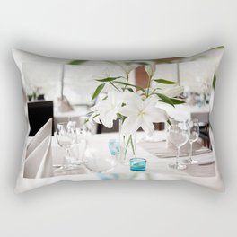 White Lily flowers bridal decoration Rectangular Pillow
