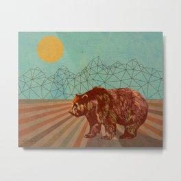 Geometric Teton Bear Metal Print