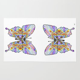 Mosaic Butterfly 1 Rug