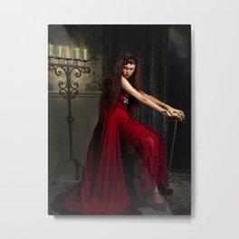 Red girl2 Metal Print