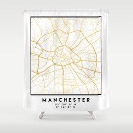 MANCHESTER ENGLAND CITY STREET MAP ART Shower Curtain