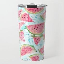 Fresh watermelon watercolor pattern Travel Mug