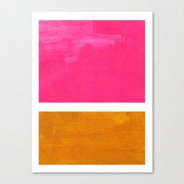 Magenta Yellow Ochre Rothko Minimalist Mid Century Abstract Color Field Squares Canvas Print