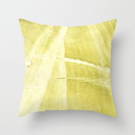 Yellow green abstract Throw Pillow