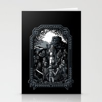 lotr Stationery Cards featuring There and Back Again by Fuacka
