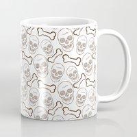 skulls Mugs featuring Skulls by AldanNi