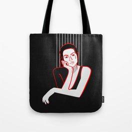 Minimal Girl Tote Bag