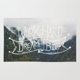 Work Hard Dream Big Rug