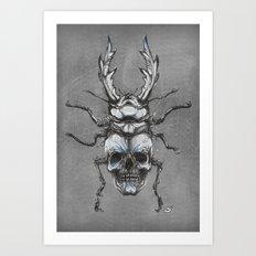 Beetleskull Art Print