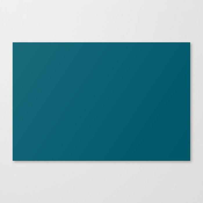 Best Seller Sherwin Williams Trending Colors of 2019 Oceanside (Dark Aqua Blue) SW 6496 Solid Color Leinwanddruck