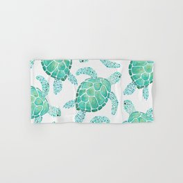Sea Turtle Pattern - Blue Hand & Bath Towel