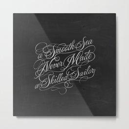 Smooth Sea Metal Print