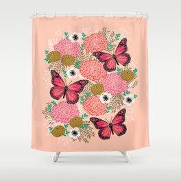 Monarch Florals by Andrea Lauren  Shower Curtain