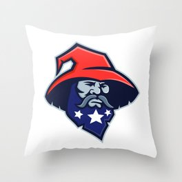 Warlock Stars on Beard Mascot Throw Pillow
